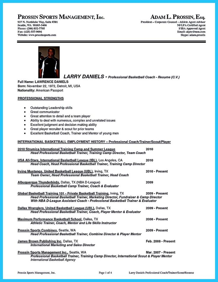 Cele mai bune 25+ de idei despre High school resume template pe - high school basketball coach resume