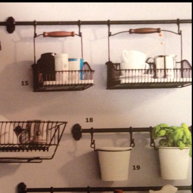 Ikea Kitchen Wall Organizer Organization Pinterest