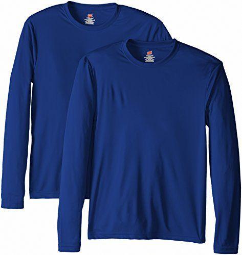 Hanes Men's Long Sleeve Cool DRI T-Shirt UPF 50+, Deep Royal, Medium (Pack of 2) - http://www.exercisejoy.com/hanes-mens-long-sleeve-cool-dri-t-shirt-upf-50-deep-royal-medium-pack-of-2/athletic-clothing/