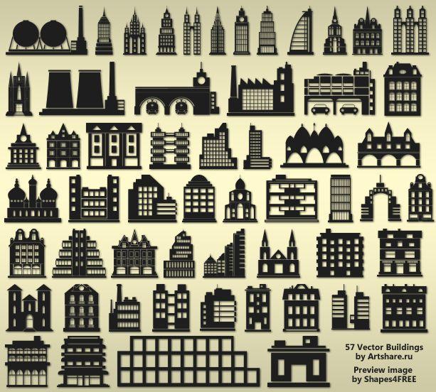 Free Photoshop Shapes - 57 Vector Buildings  sc 1 st  Pinterest & 11 best photoshop shapes images on Pinterest | Photoshop shapes ...