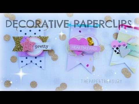 DON'T TRASH THOSE SCRAPS|HOW TO MAKE DECORATIVE PAPERCLIPS - YouTube