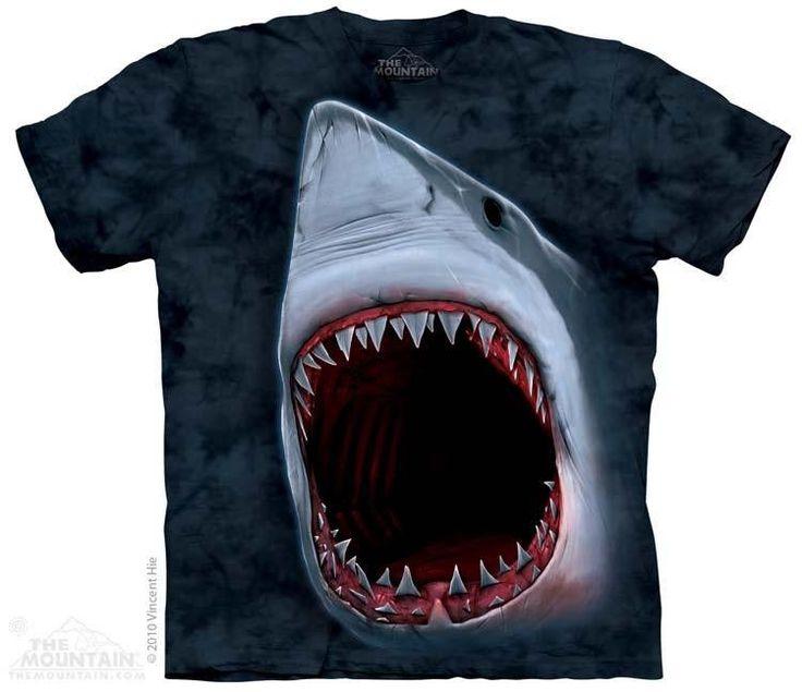Black Friday The Mountain T Shirt Aquatic Friends Shark Bite Tee, Dark Navy  Blue, Small From The Mountain
