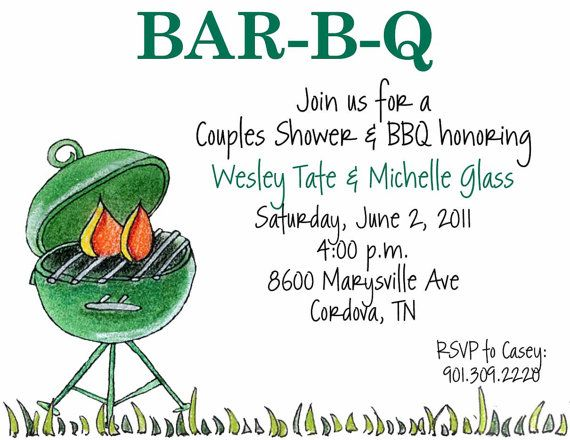 B Wedding Invitations Coupons: 14 Best Images About BBQ Invitations On Pinterest