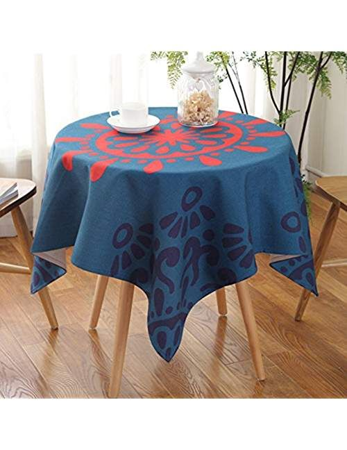 Haoly Past Fabric Ethnic Style Creative Cotton Dust Small Round Tablecloth Suitable For Coffee Table