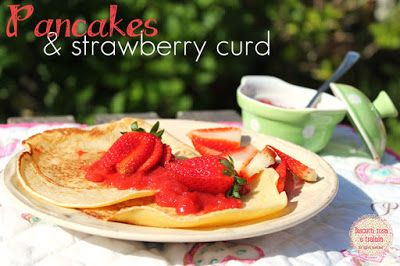 pancakes and strawberry curd