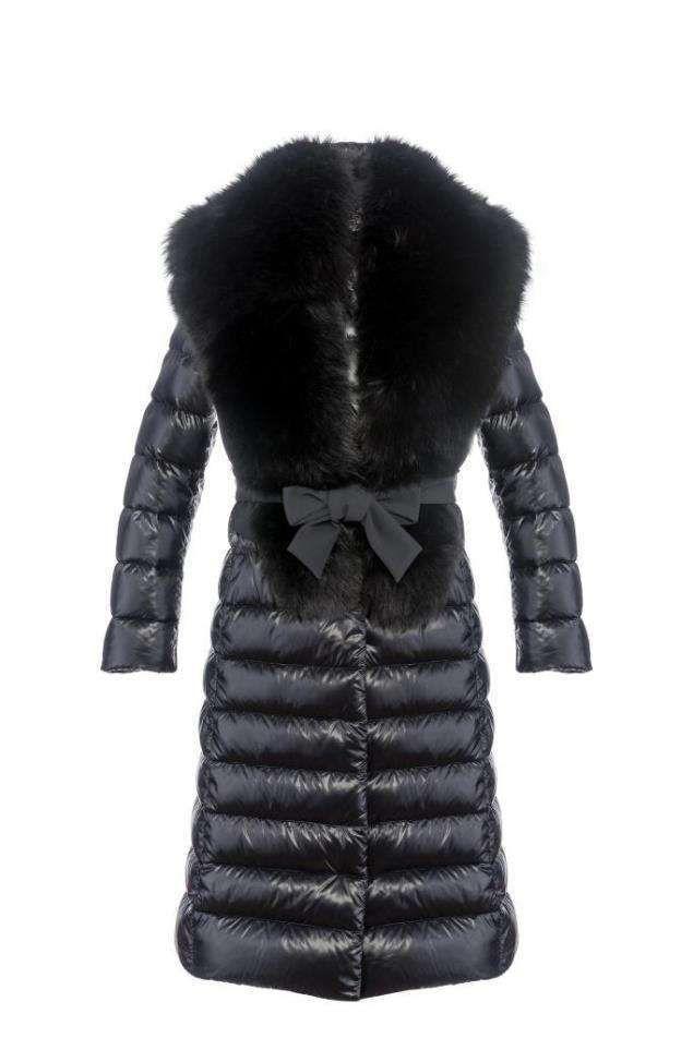Piumini donna Autunno-Inverno 2016-2017 - Piumino lungo con pelliccia Herno