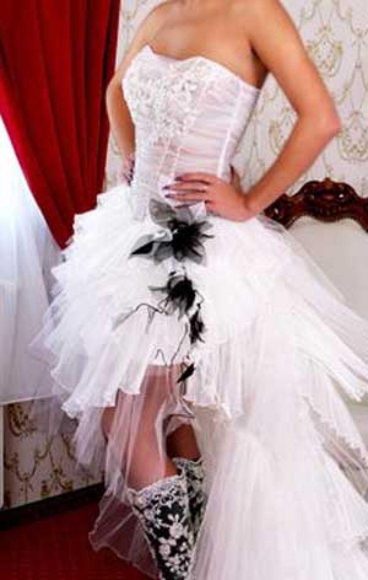vokuhila Hochzeitskleid