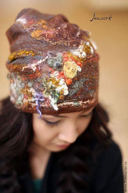 """Шапки ручной работы. Ярмарка Мастеров - ручная работа. Купить Шапка """"Цветная пудра"""". Handmade. Кудря, фактура, шапка зимняя"""