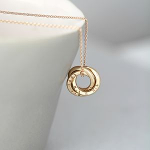 Personalised Mini Russian Ring Necklace - gifts for her