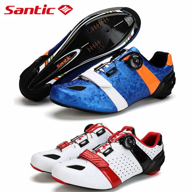 SANTIC Bicycle Shoes Carbon Fiber Road bike Shoes Auto-lock Athletic Ultralight Breathable Road Bicycle Shoes Cycling Equipment