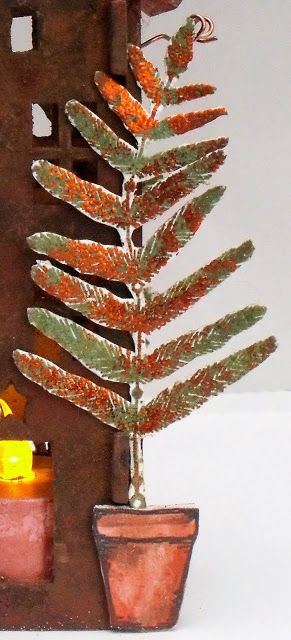 PaperArtsy: 2017 #16 Rust: Oh Christmas Tree with EKC {by Helen Chilton}