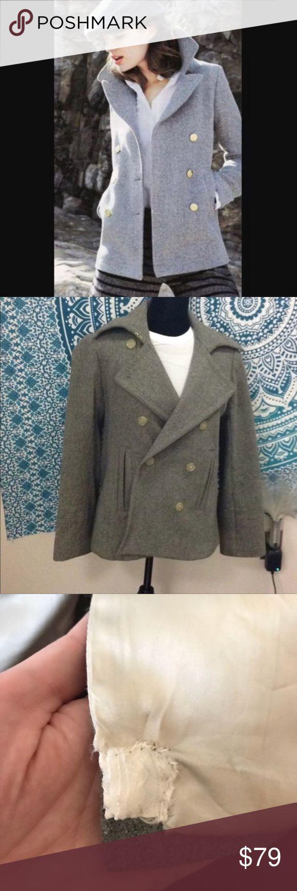 Jcrew 100 Wool Pea Coat 100 wool which is hard to find