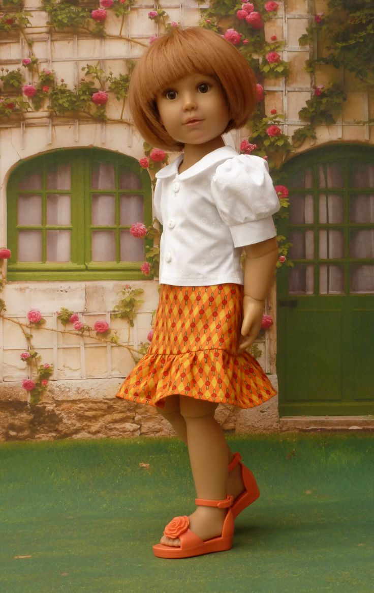 Frilled Skirt and Peter Pan Blouse for Kidz 'n' Cats Dolls #27 by WellyBs on Etsy https://www.etsy.com/listing/226044218/frilled-skirt-and-peter-pan-blouse-for