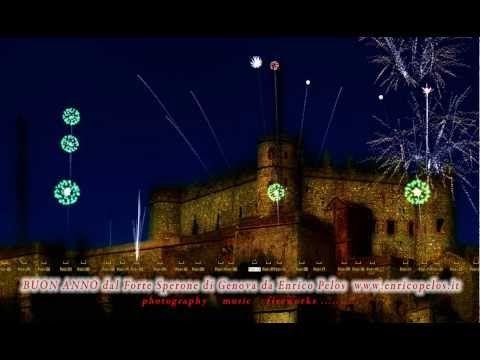BUON ANNO DAL FORTE SPERONE DI GENOVA da Enrico Pelos - FIREWORKS (virtual) HAPPY NEW YEAR