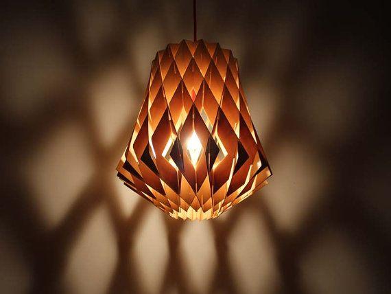 Découpé au laser Satinwood plaque pendentif lumières-Decor lampes de plafond en bois lumières lumières-Bar éclairage-cuisine Light-industriel Chic feux combinés