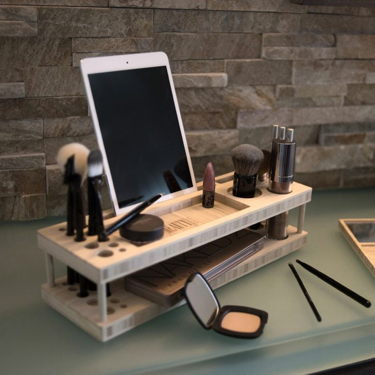 iSkelter Beauty Station - A complete makeup organizer, display center, and universal docking station for smartphones