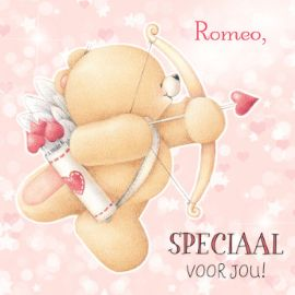 Valentijnskaart - cupido-beertje
