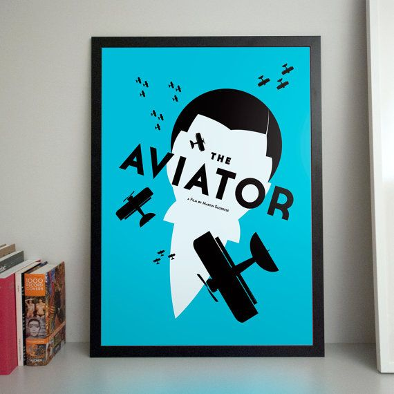 Aviator B2 poster by JerzySkakunHomework on Etsy, €50.00
