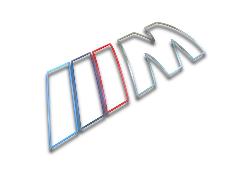 BMW M Logo as a colorful silhouette rendering.