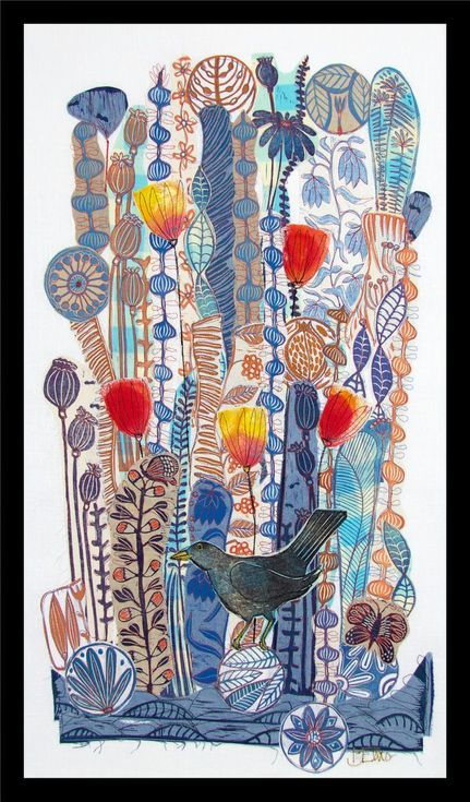 Buy Winter Blue, XL linocut, textile collage with embroidery, Linocut by Mariann Johansen-Ellis on Artfinder. Discover thousands of other original paintings, prints, sculptures and photography from independent artists.