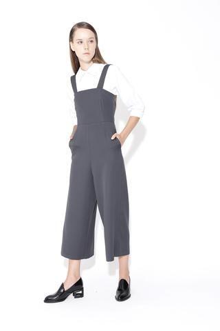 MARINA   Detachable Straps Culottes Pinafore Jumpsuits