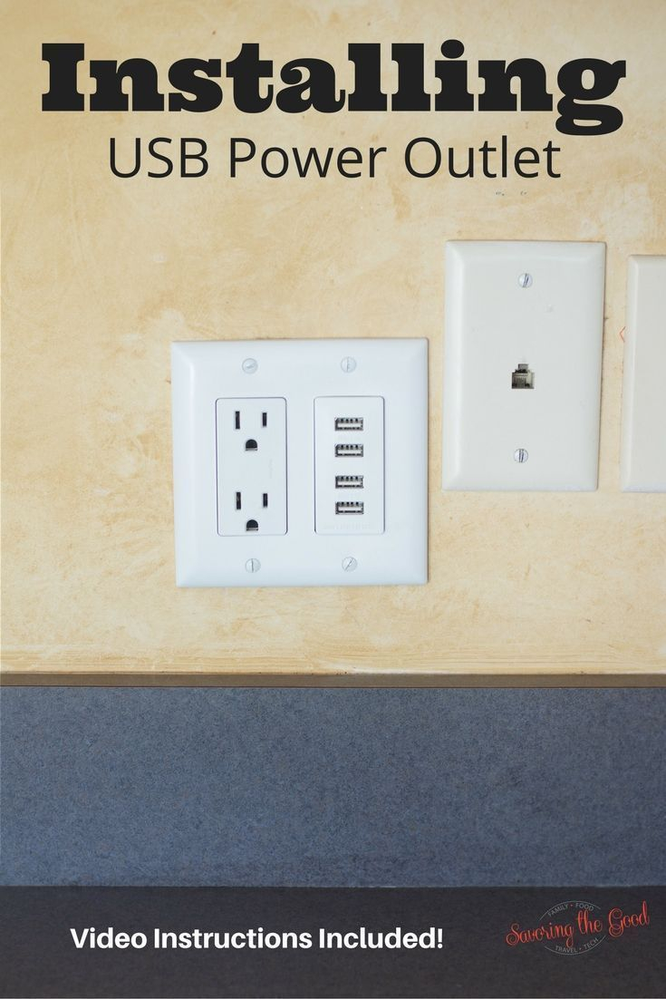 Installing USB Power Outlet Wall Charger. Easy instructions with a video to show you step by step how tin install a USB wall outlet.