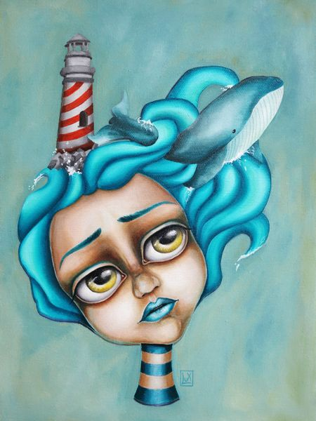 Mare Mio by Lux #oil #painting #surrealism #surreal #sea #popsurreal #lowbrown #mare #whale