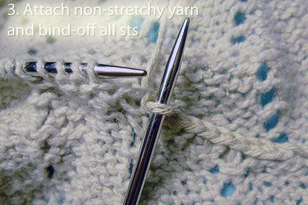 Tutorial - Reinforcing Shoulder Areas in top-down knitting