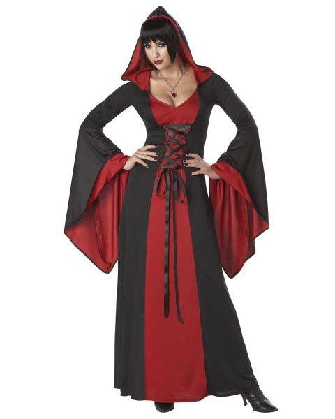 Mittelalter Vampir DELUXE Kleid Gewand Gothic Damenkostüm
