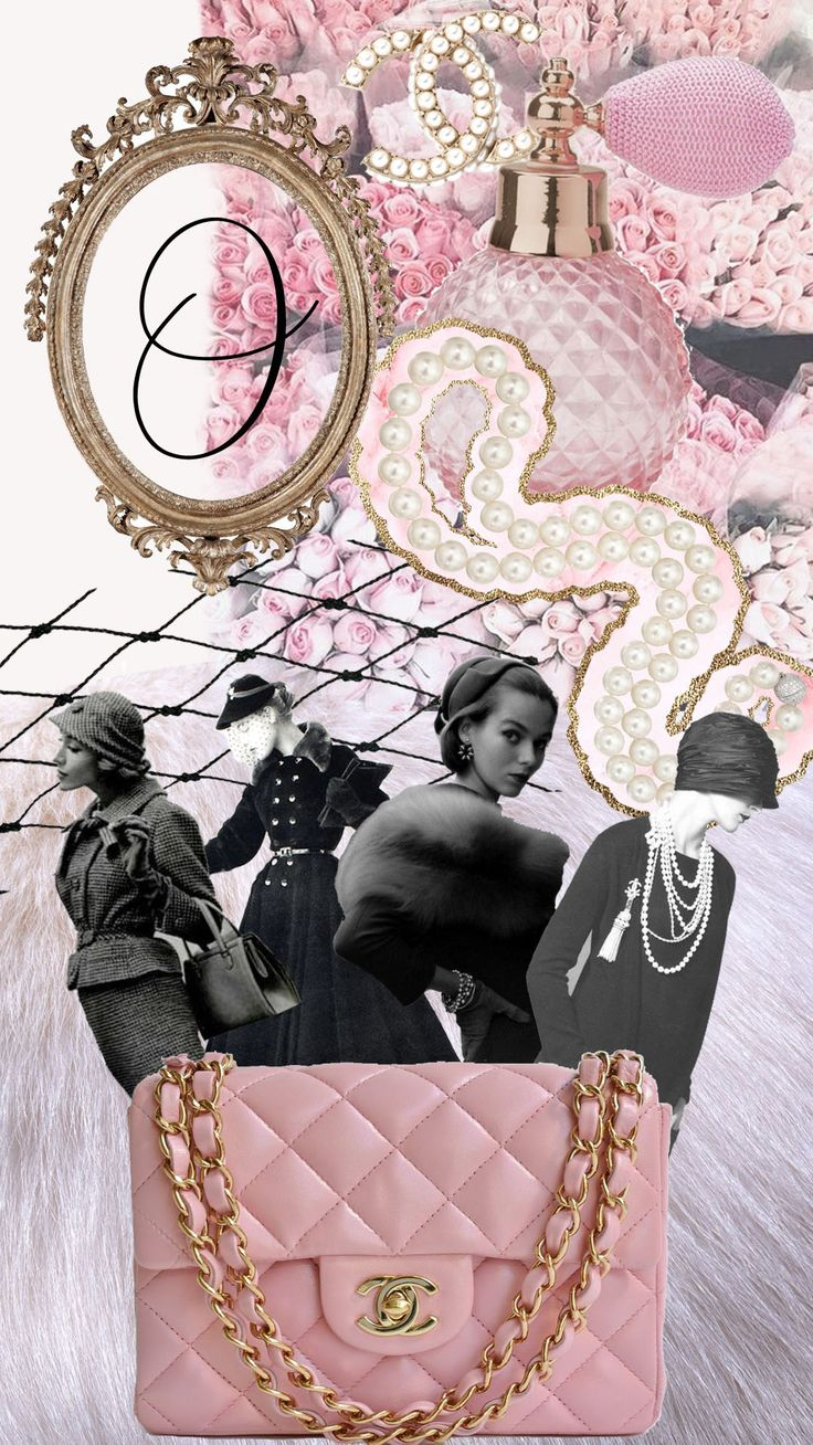 vintage Chanel 1950 wallpaper collage