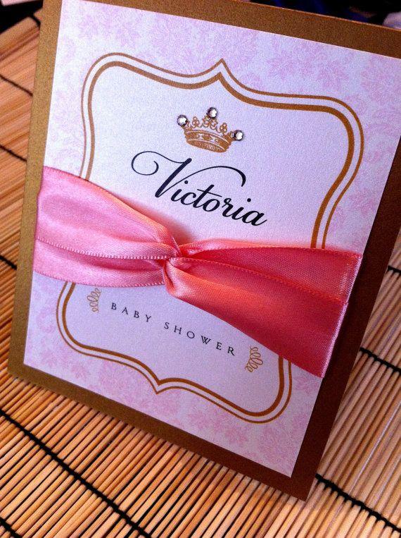 Princess baby shower invitations via Etsy