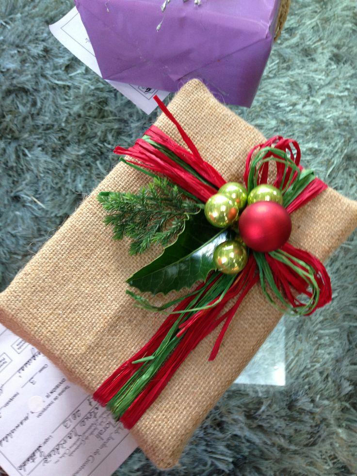 Regalo de Navidad. Home show Florali. 3er. Lugar Karen Ascoli de Novales. Christmas gift wrap