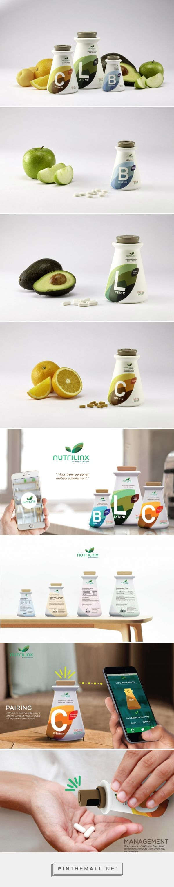 The Dieline Awards 2015: 3rd Place Student- Nutrilinx Dietary Supplements — The Dieline - Branding & Packaging - created via http://pinthemall.net
