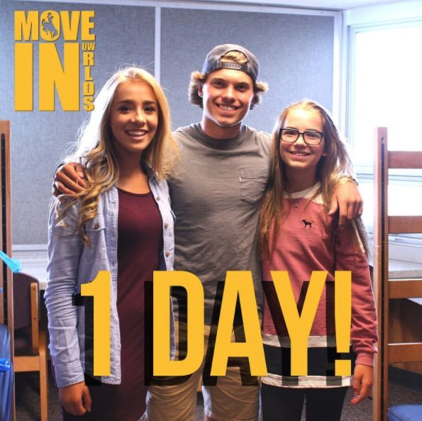 Tomorrow is the big day! We hope you're ready and excited, Pokes!  #uwyo #uwyoreslife #WyHOMEing #Laramie #Wyoming #college #university #moving #movein #move #in