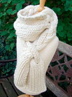 NobleKnits Knitting Blog: Braided Scarf  Knitting Pattern