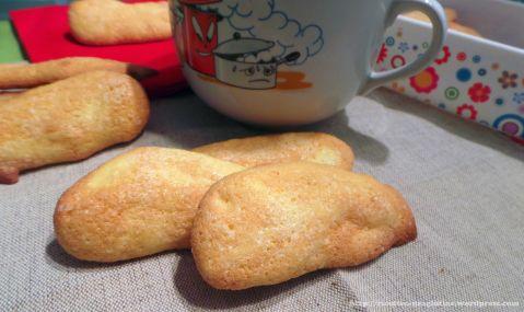 Biscotti savoiardi con farina di riso senza glutine latte e lievito