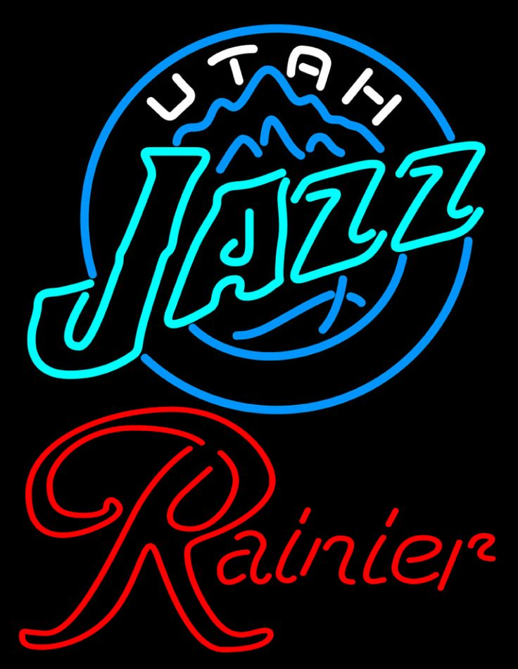 Rainier Utah Jazz NBA Neon Beer Sign, Rainier with NBA | Beer with Sports Signs. Makes a great gift. High impact, eye catching, real glass tube neon sign. In stock. Ships in 5 days or less. Brand New Indoor Neon Sign. Neon Tube thickness is 9MM. All Neon Signs have 1 year warranty and 0% breakage guarantee.