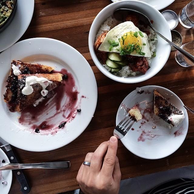 Portland | Huckleberry French Toast and Koren Fried Chicken from Tasty N' Alder • 3808 N. Williams, Suite C / Eva Goicocha