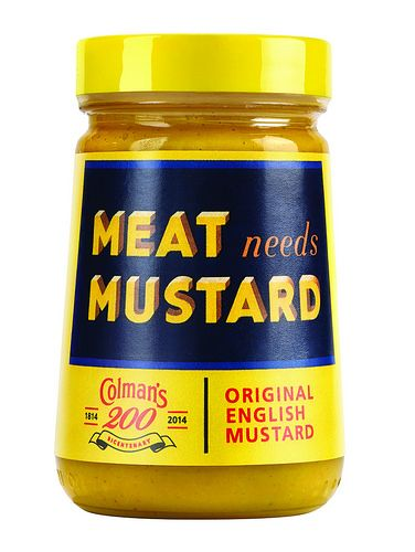 Limited edition vintage Colman's Mustard jars.