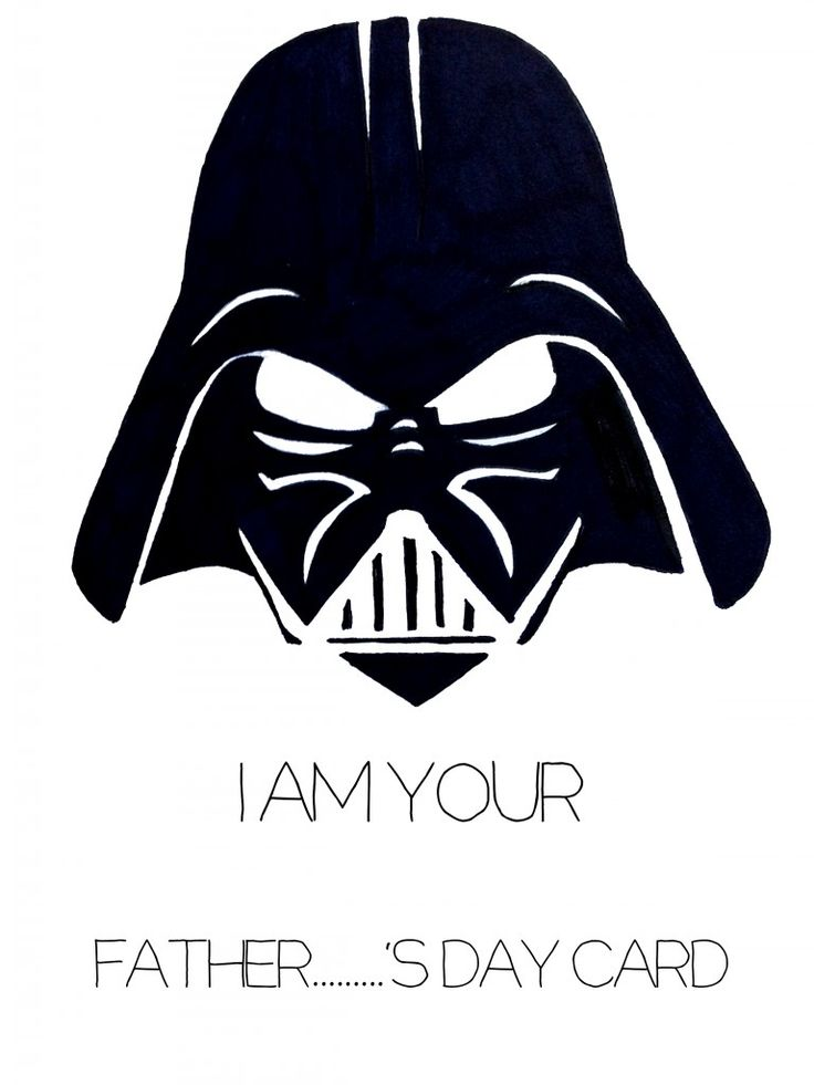 Awesome Darth Vader Father's Day Card // GIRL LIKE THE SEA