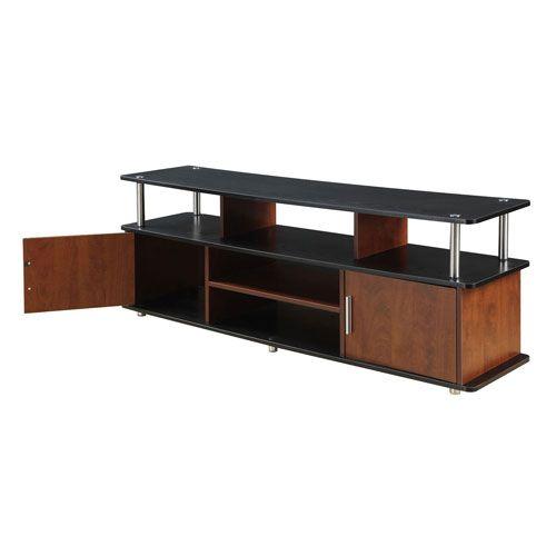 designs2go cherry tv stand