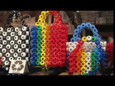 236. Cesta con tapas o tapones de plástico (Reciclaje) Ecobrisa - YouTube