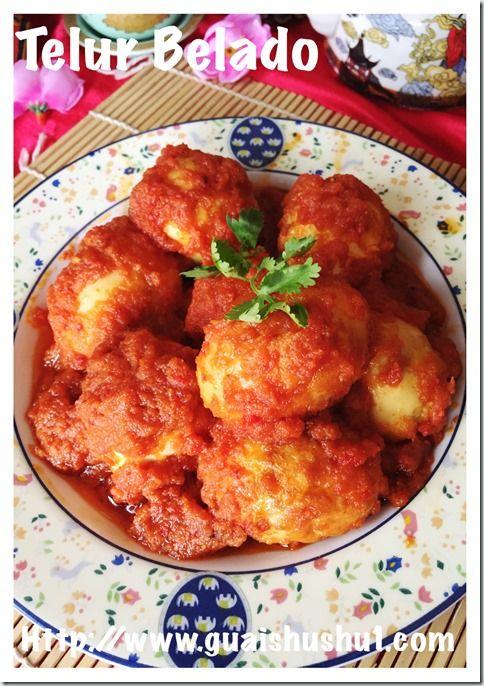 Indonesian Chilli Eggs (Telor Balado or Sambal Telur 辣椒鸡蛋) #guaishushu #kenneth_goh #Telor_balado #sambal_telur
