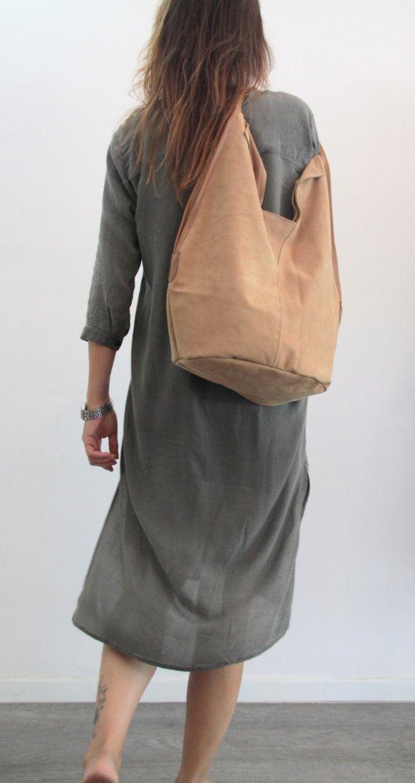 Cuero camel bolso Soft cuero bolso Charley por LadyBirdesign
