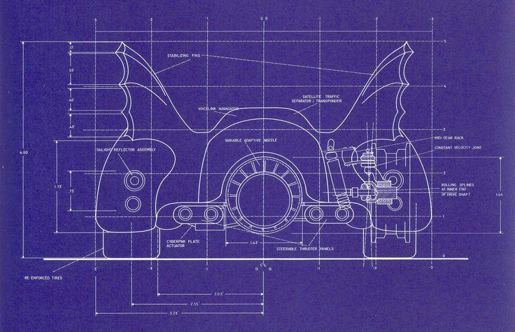 52 best production design images on pinterest fight club aircraft batmobile blueprint for tim burtons batman 1989 by anton furst back malvernweather Images