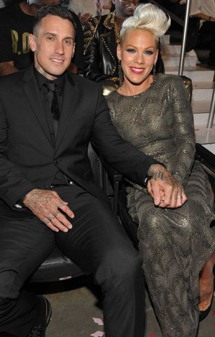 Carey Hart and P!nk photographed on the scene at the 2012 MTV Video Music Awards in Los Angeles. | MTV Photo Gallery