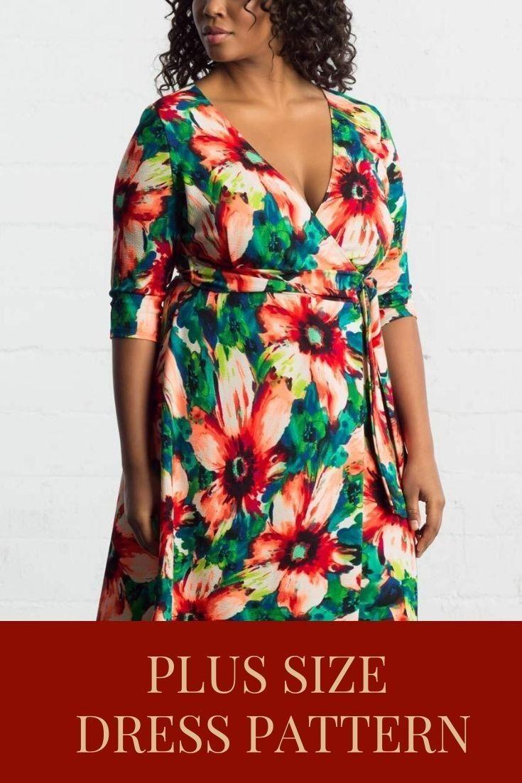 Pdf Plus Size Dress Pattern Wrap Dress Pattern Sewing Patterns Diy Women S Clothes Patterns Womens Clothing Patterns Clothes For Women Wrap Dress Pattern [ 1102 x 735 Pixel ]