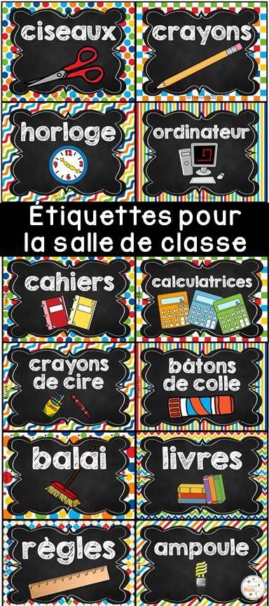 88 étiquettes pour vous aider à organiser votre matériel dans votre salle de classe à la rentrée! 2 formats offerts! Thème de ces étiquettes pour la classe: tableau noir et arc-en-ciel!