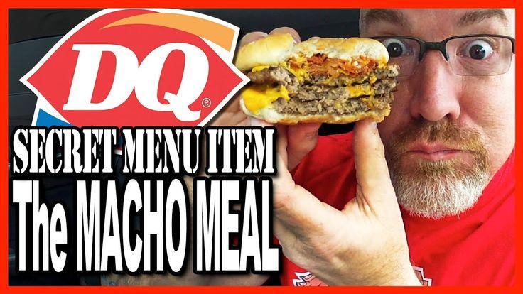 Dairy Queen ★ Secret Menu Item ★ Macho Meal Challenge 2400 Calories