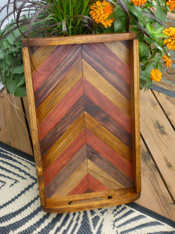 Wooden serving tray / home decor tray by LanganCustomWoods on Etsy